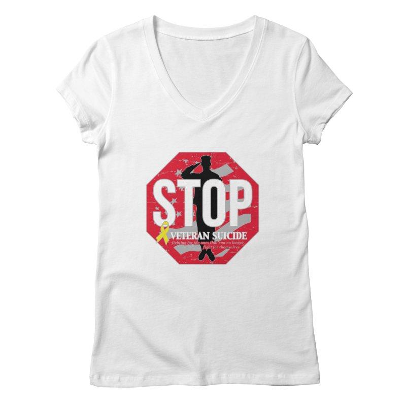 Stop Veteran Suicide Women's Regular V-Neck by Moon Joggers's Artist Shop