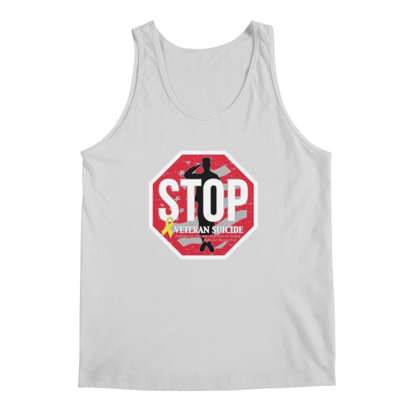Stop Veteran Suicide Men's Regular Tank by Moon Joggers's Artist Shop
