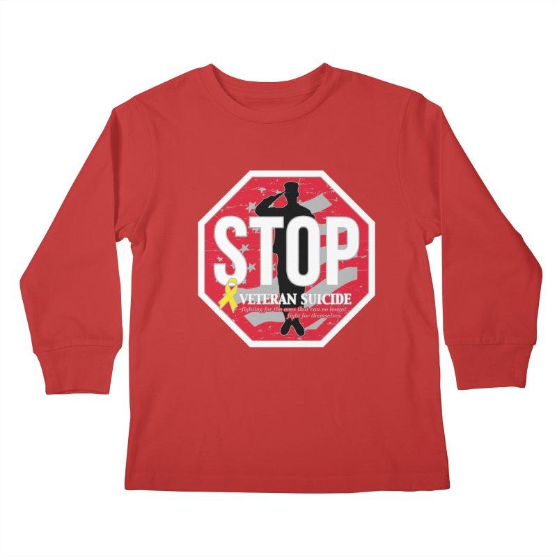 Stop Veteran Suicide Kids Longsleeve T-Shirt by Moon Joggers's Artist Shop