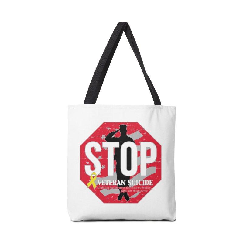 Stop Veteran Suicide Accessories Tote Bag Bag by Moon Joggers's Artist Shop