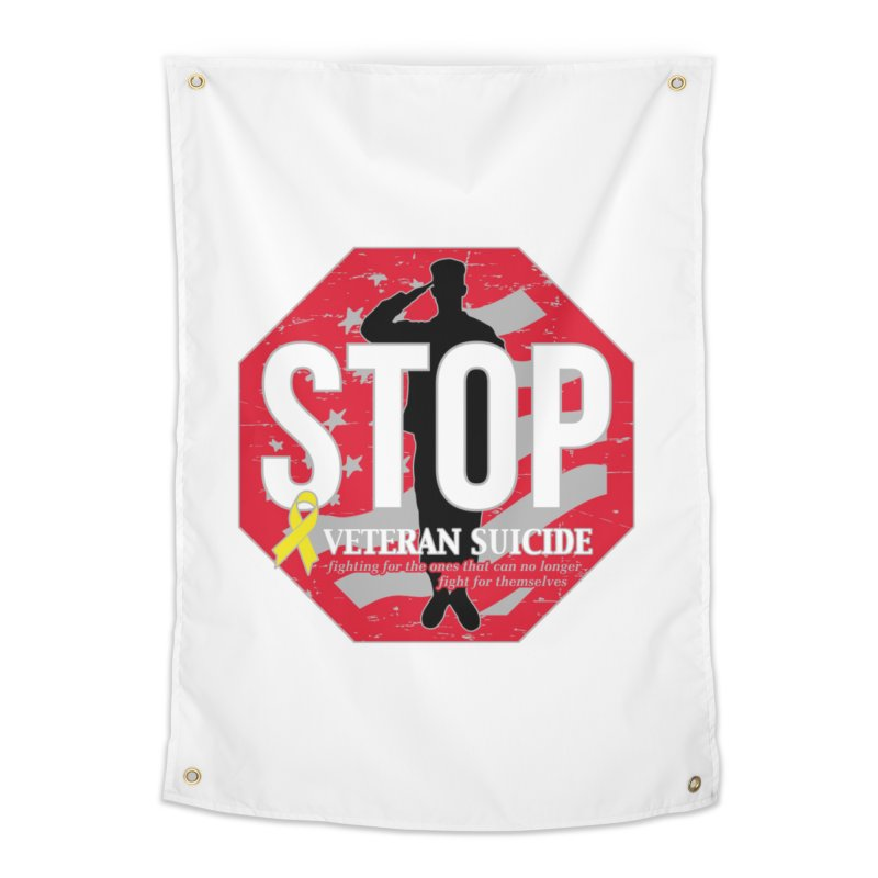 Stop Veteran Suicide Home Tapestry by Moon Joggers's Artist Shop