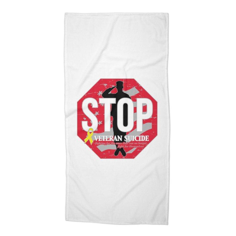 Stop Veteran Suicide Accessories Beach Towel by Moon Joggers's Artist Shop