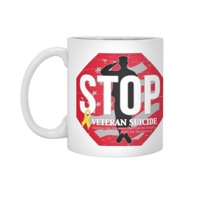 Stop Veteran Suicide Accessories Standard Mug by Moon Joggers's Artist Shop