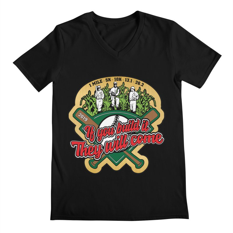 If You Build It They Will Come Men's Regular V-Neck by Moon Joggers's Artist Shop