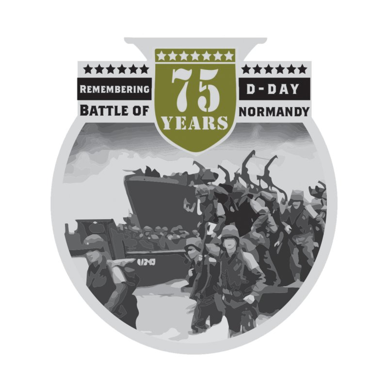 D-day 75th Anniversary: Battle of Normandy by Moon Joggers's Artist Shop