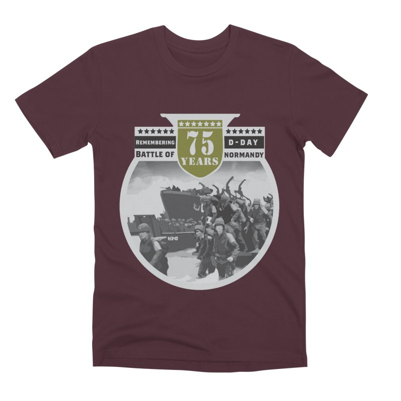 D-day 75th Anniversary: Battle of Normandy Men's Premium T-Shirt by Moon Joggers's Artist Shop