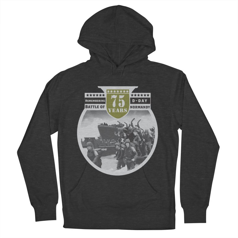 D-day 75th Anniversary: Battle of Normandy Men's French Terry Pullover Hoody by Moon Joggers's Artist Shop