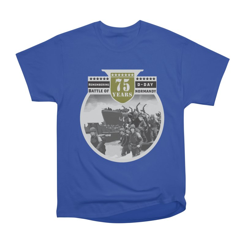 D-day 75th Anniversary: Battle of Normandy Men's Heavyweight T-Shirt by Moon Joggers's Artist Shop