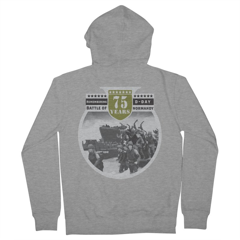 D-day 75th Anniversary: Battle of Normandy Women's French Terry Zip-Up Hoody by Moon Joggers's Artist Shop