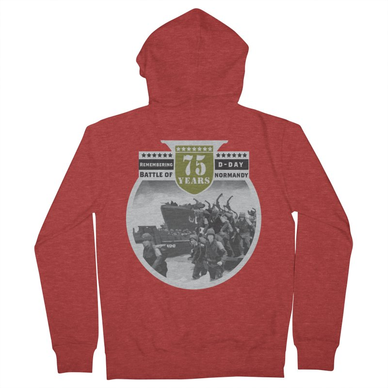 D-day 75th Anniversary: Battle of Normandy Men's French Terry Zip-Up Hoody by Moon Joggers's Artist Shop