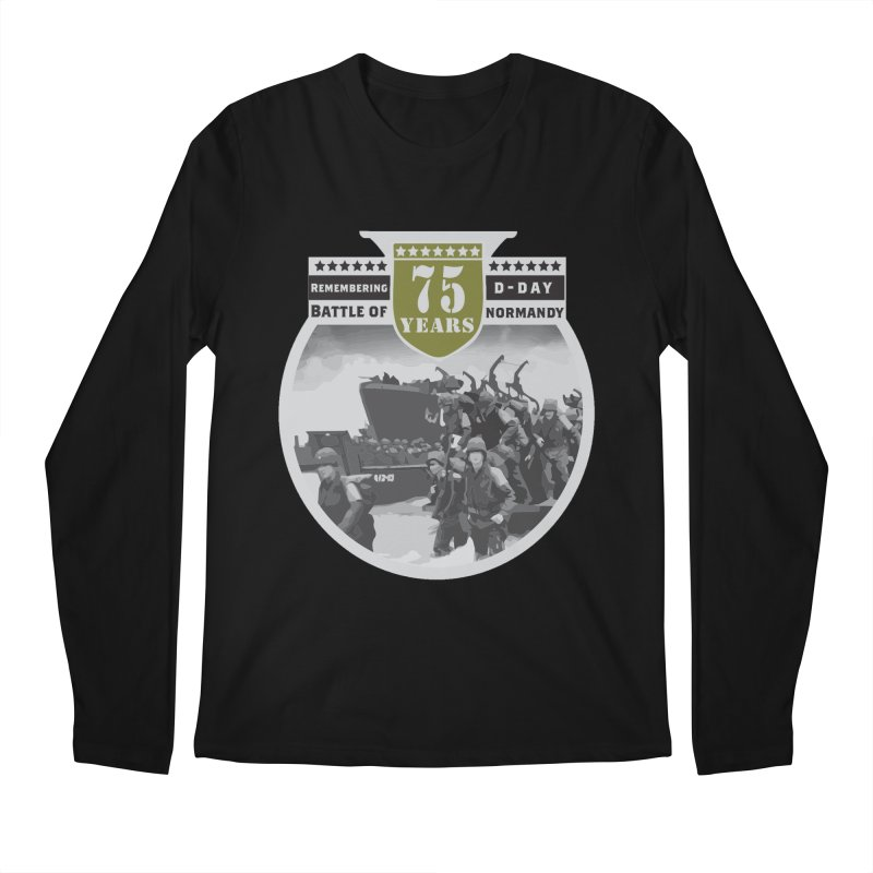 D-day 75th Anniversary: Battle of Normandy Men's Regular Longsleeve T-Shirt by Moon Joggers's Artist Shop