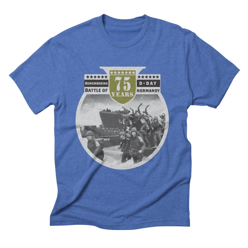 D-day 75th Anniversary: Battle of Normandy Men's Triblend T-Shirt by Moon Joggers's Artist Shop