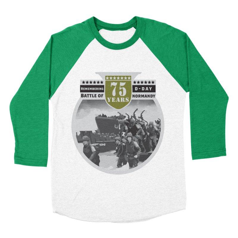 D-day 75th Anniversary: Battle of Normandy Women's Baseball Triblend Longsleeve T-Shirt by Moon Joggers's Artist Shop