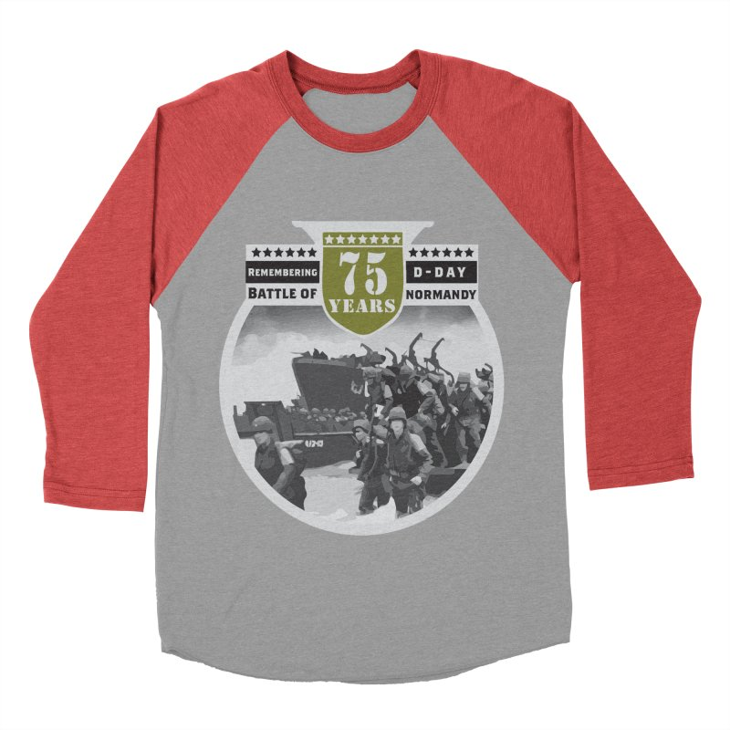D-day 75th Anniversary: Battle of Normandy Men's Baseball Triblend Longsleeve T-Shirt by Moon Joggers's Artist Shop