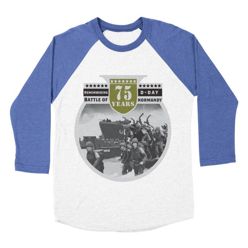 D-day 75th Anniversary: Battle of Normandy Men's Baseball Triblend Longsleeve T-Shirt by Moon Joggers's Artist Shop