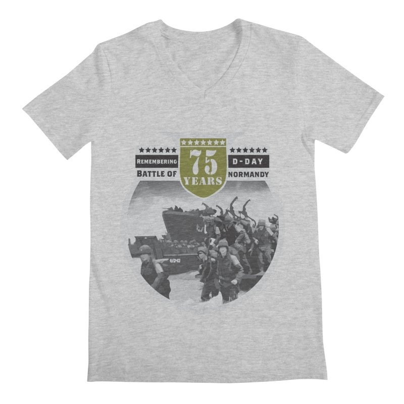D-day 75th Anniversary: Battle of Normandy Men's Regular V-Neck by Moon Joggers's Artist Shop