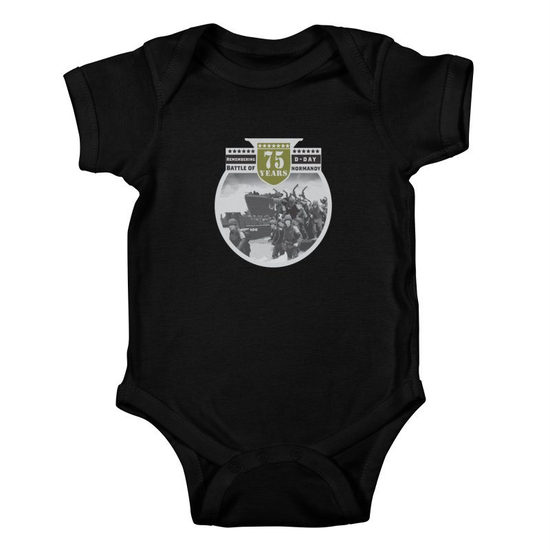 D-day 75th Anniversary: Battle of Normandy Kids Baby Bodysuit by Moon Joggers's Artist Shop