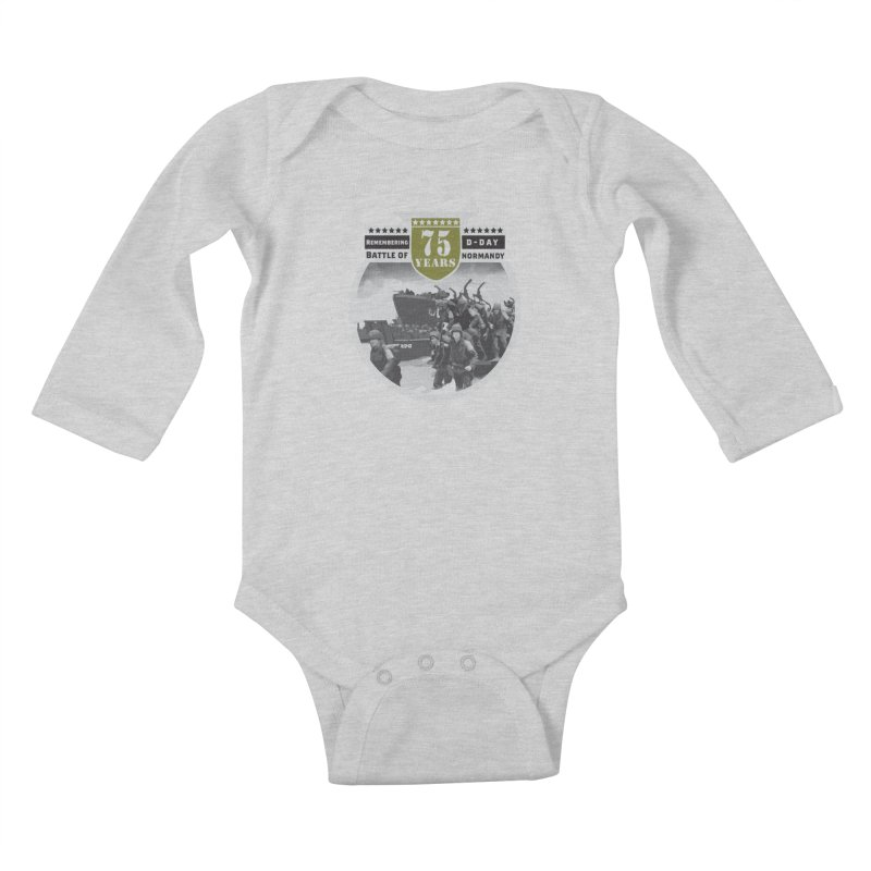 D-day 75th Anniversary: Battle of Normandy Kids Baby Longsleeve Bodysuit by Moon Joggers's Artist Shop