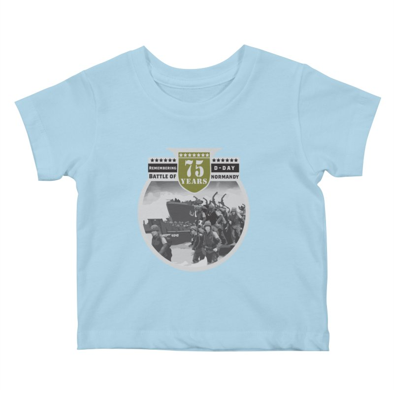 D-day 75th Anniversary: Battle of Normandy Kids Baby T-Shirt by Moon Joggers's Artist Shop