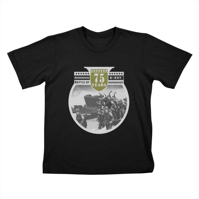 D-day 75th Anniversary: Battle of Normandy Kids T-Shirt by Moon Joggers's Artist Shop