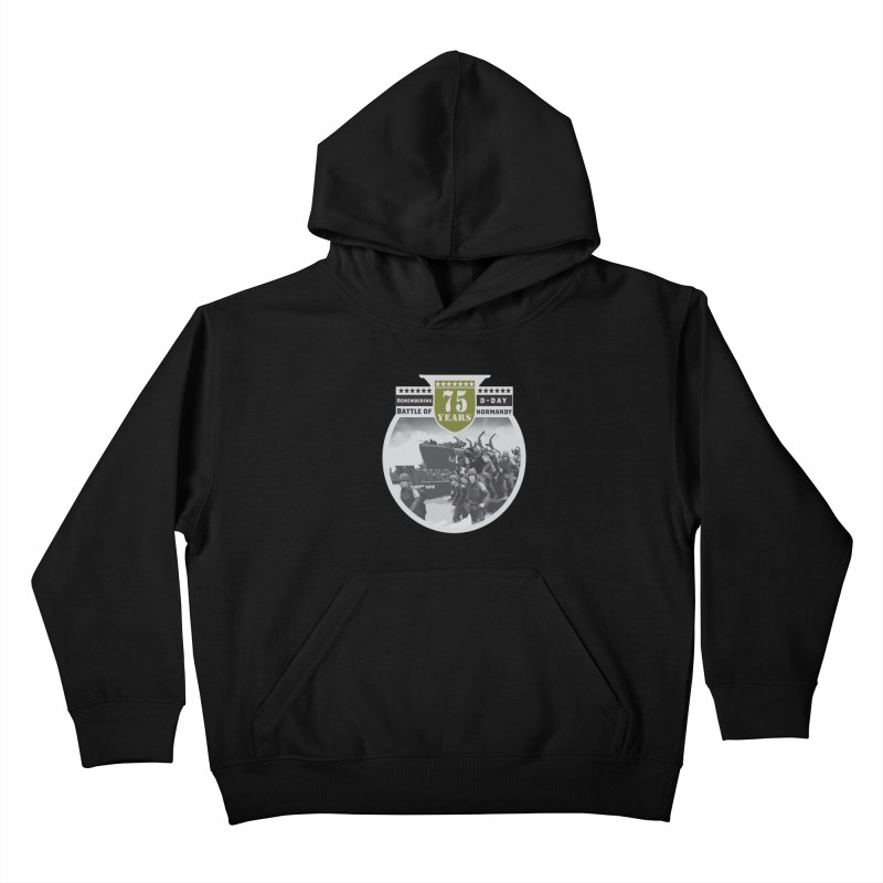 D-day 75th Anniversary: Battle of Normandy Kids Pullover Hoody by Moon Joggers's Artist Shop