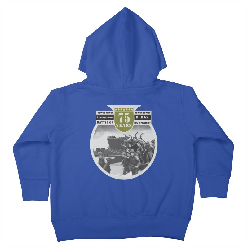 D-day 75th Anniversary: Battle of Normandy Kids Toddler Zip-Up Hoody by Moon Joggers's Artist Shop