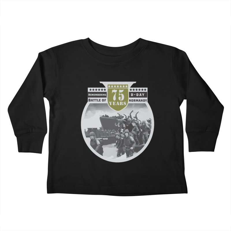 D-day 75th Anniversary: Battle of Normandy Kids Toddler Longsleeve T-Shirt by Moon Joggers's Artist Shop