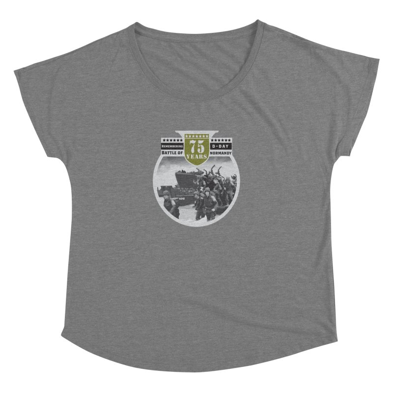D-day 75th Anniversary: Battle of Normandy Women's Scoop Neck by Moon Joggers's Artist Shop