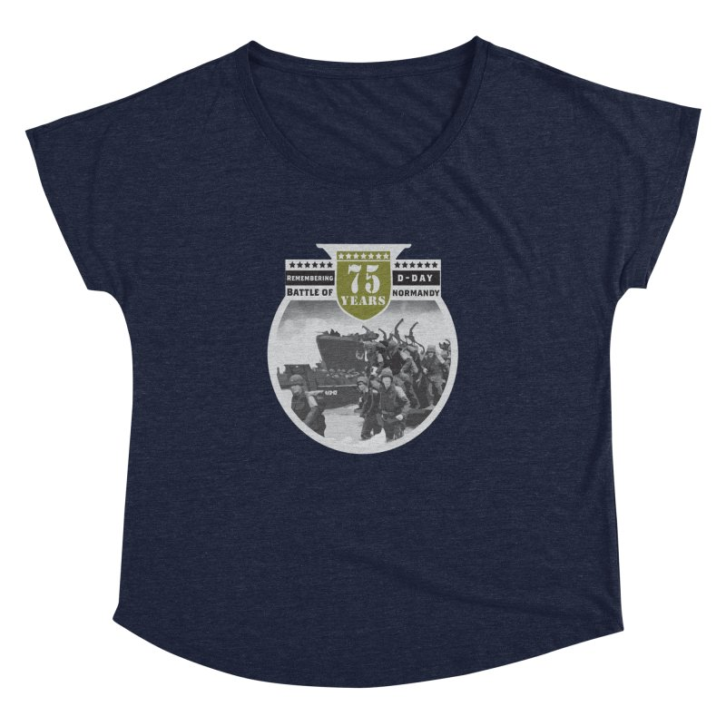 D-day 75th Anniversary: Battle of Normandy Women's Dolman Scoop Neck by Moon Joggers's Artist Shop