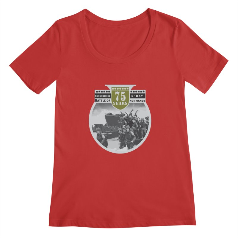 D-day 75th Anniversary: Battle of Normandy Women's Regular Scoop Neck by Moon Joggers's Artist Shop