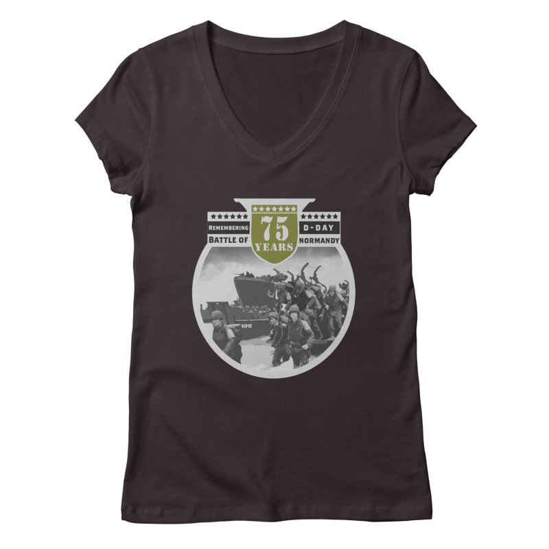 D-day 75th Anniversary: Battle of Normandy Women's Regular V-Neck by Moon Joggers's Artist Shop