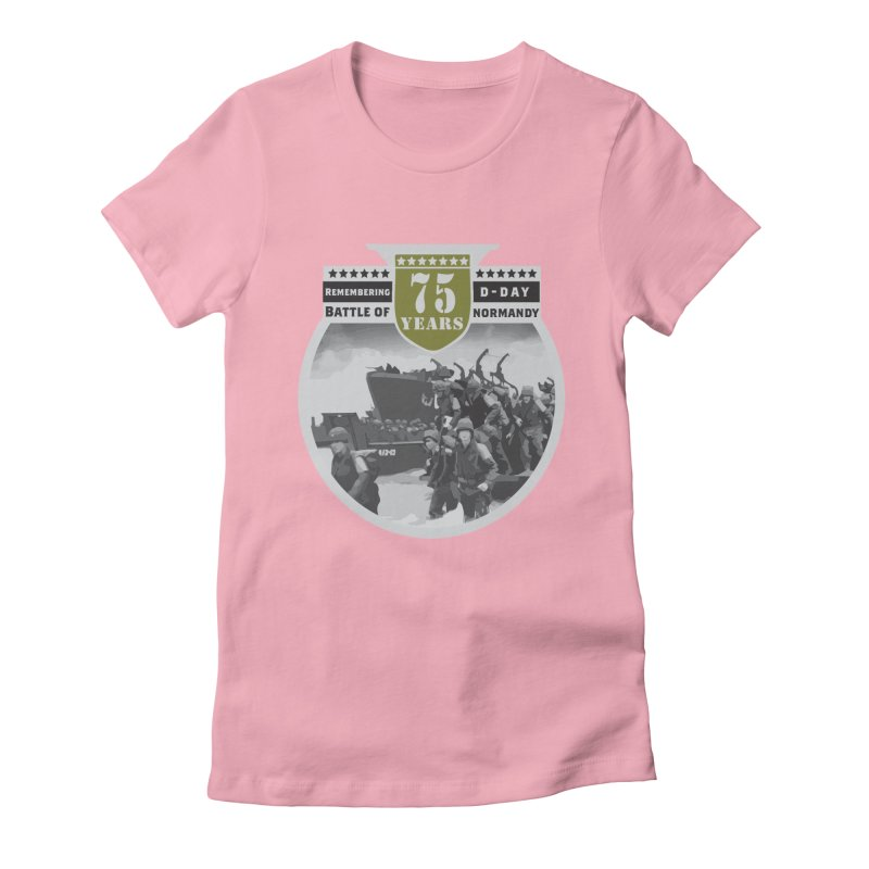D-day 75th Anniversary: Battle of Normandy Women's Fitted T-Shirt by Moon Joggers's Artist Shop