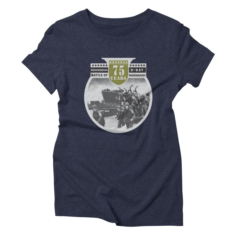 D-day 75th Anniversary: Battle of Normandy Women's Triblend T-Shirt by Moon Joggers's Artist Shop