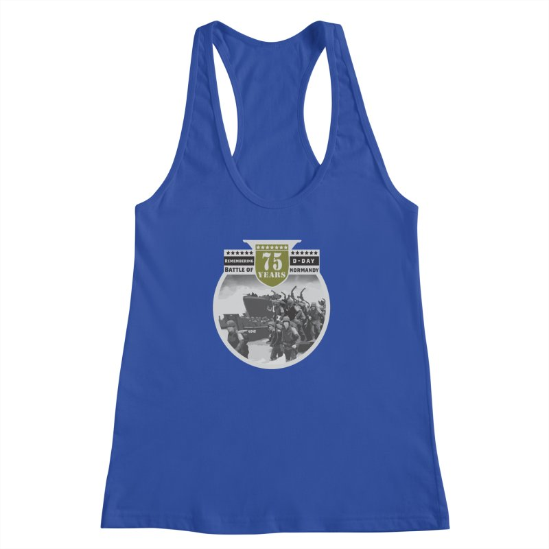D-day 75th Anniversary: Battle of Normandy Women's Racerback Tank by Moon Joggers's Artist Shop