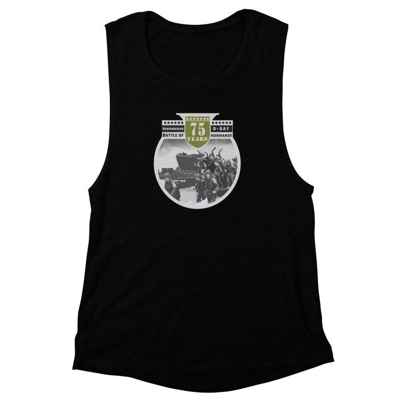 D-day 75th Anniversary: Battle of Normandy Women's Muscle Tank by Moon Joggers's Artist Shop