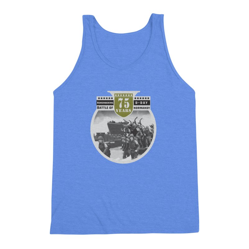 D-day 75th Anniversary: Battle of Normandy Men's Triblend Tank by Moon Joggers's Artist Shop