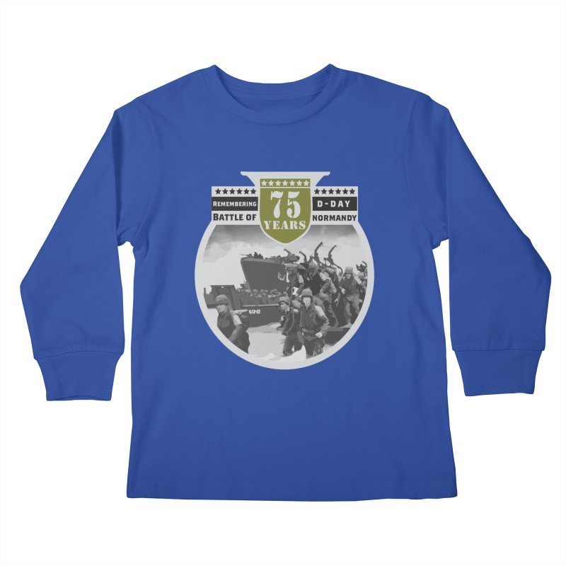 D-day 75th Anniversary: Battle of Normandy Kids Longsleeve T-Shirt by Moon Joggers's Artist Shop
