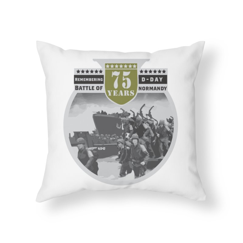 D-day 75th Anniversary: Battle of Normandy Home Throw Pillow by Moon Joggers's Artist Shop