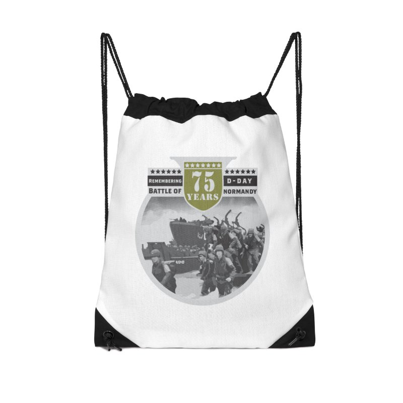 D-day 75th Anniversary: Battle of Normandy Accessories Drawstring Bag Bag by Moon Joggers's Artist Shop