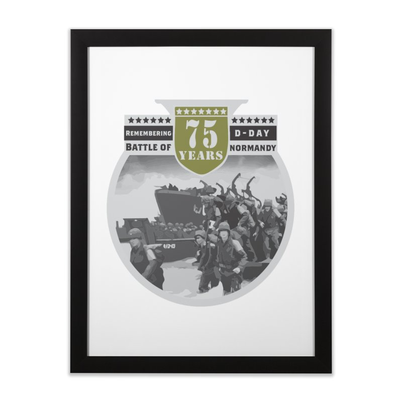 D-day 75th Anniversary: Battle of Normandy Home Framed Fine Art Print by Moon Joggers's Artist Shop