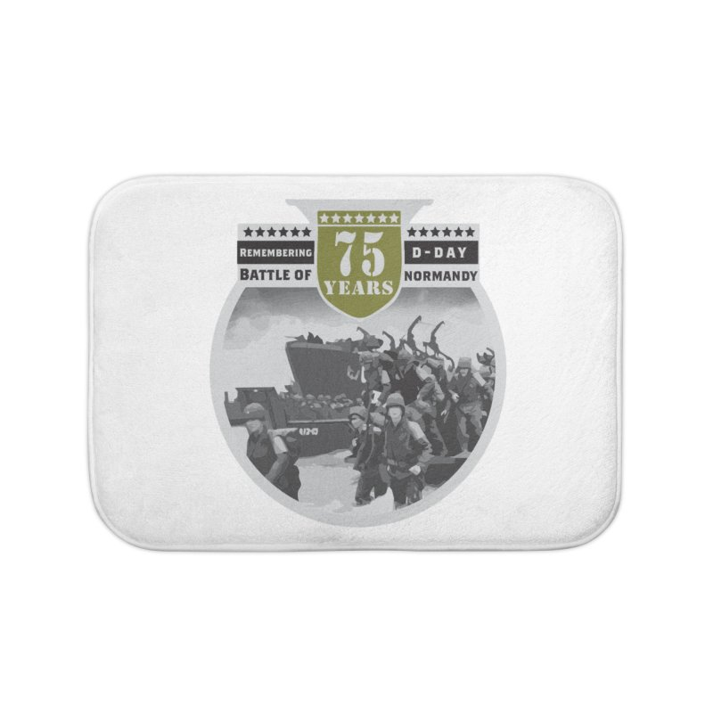 D-day 75th Anniversary: Battle of Normandy Home Bath Mat by Moon Joggers's Artist Shop