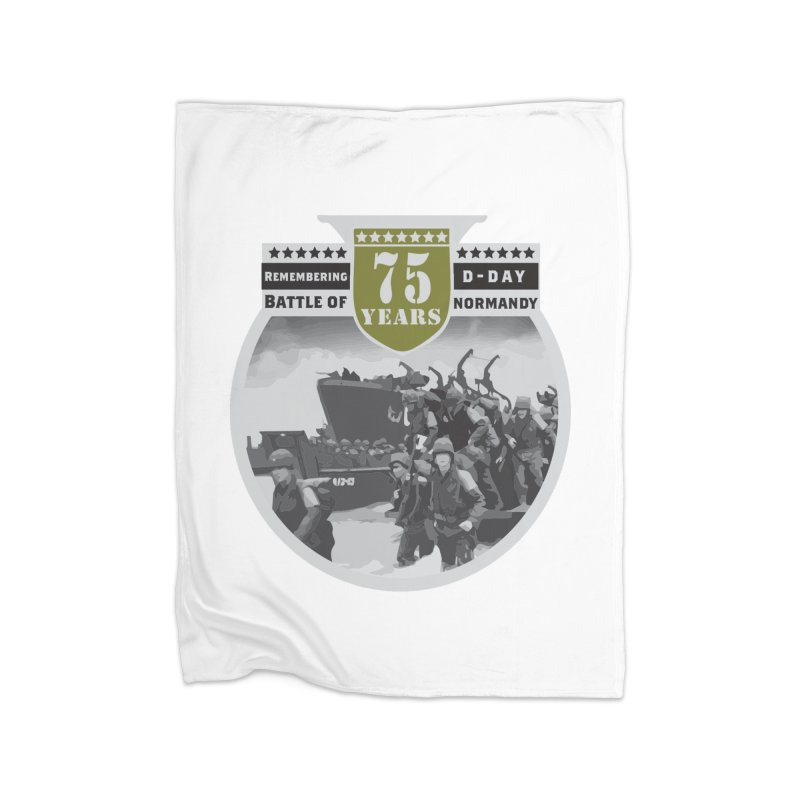 D-day 75th Anniversary: Battle of Normandy Home Fleece Blanket Blanket by Moon Joggers's Artist Shop
