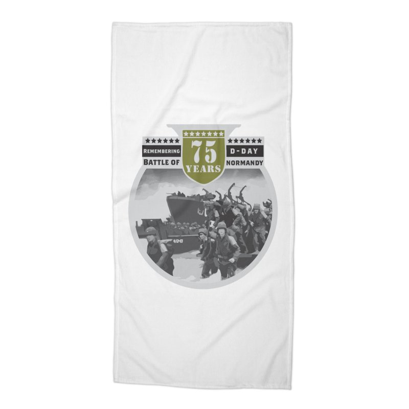 D-day 75th Anniversary: Battle of Normandy Accessories Beach Towel by Moon Joggers's Artist Shop