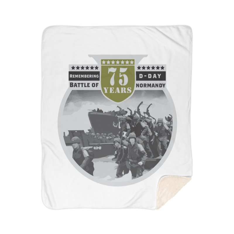 D-day 75th Anniversary: Battle of Normandy Home Sherpa Blanket Blanket by Moon Joggers's Artist Shop