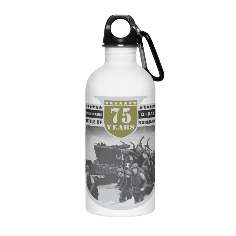 D-day 75th Anniversary: Battle of Normandy Accessories Water Bottle by Moon Joggers's Artist Shop