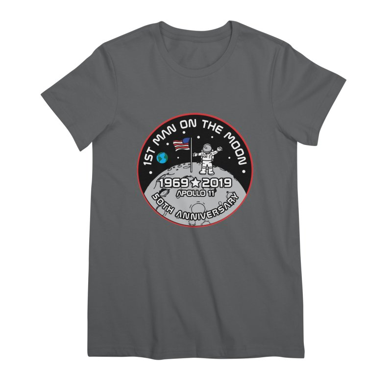 50th Anniversary of First Man Landing on the Moon Women's Premium T-Shirt by Moon Joggers's Artist Shop
