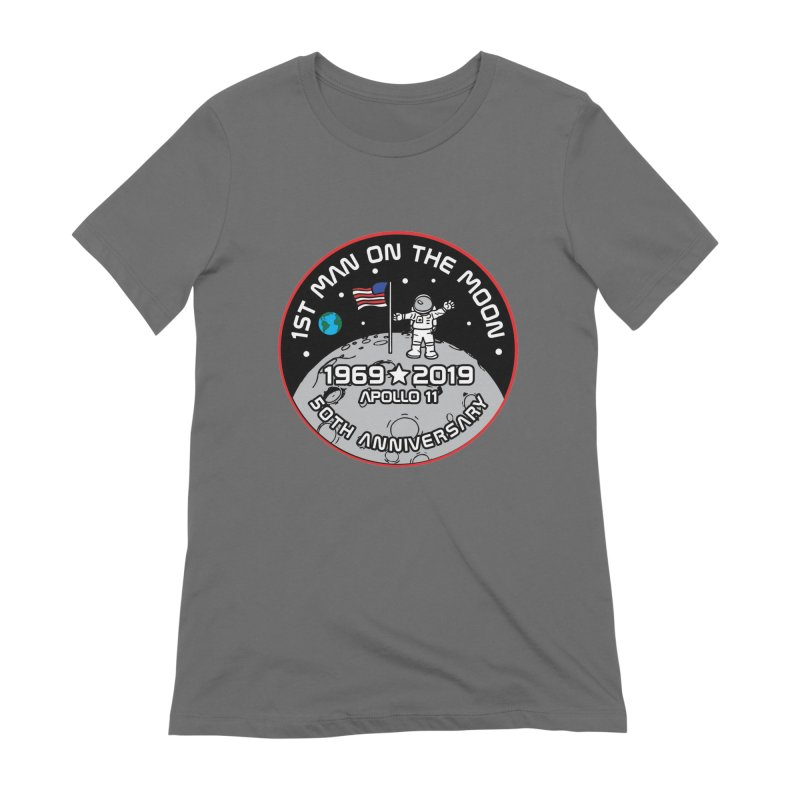 50th Anniversary of First Man Landing on the Moon Women's Extra Soft T-Shirt by Moon Joggers's Artist Shop
