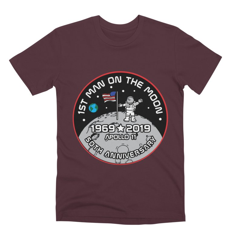 50th Anniversary of First Man Landing on the Moon Men's Premium T-Shirt by Moon Joggers's Artist Shop