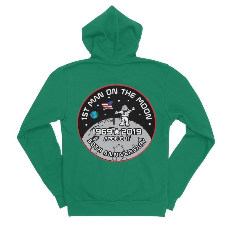 50th Anniversary of First Man Landing on the Moon Men's Sponge Fleece Zip-Up Hoody by Moon Joggers's Artist Shop