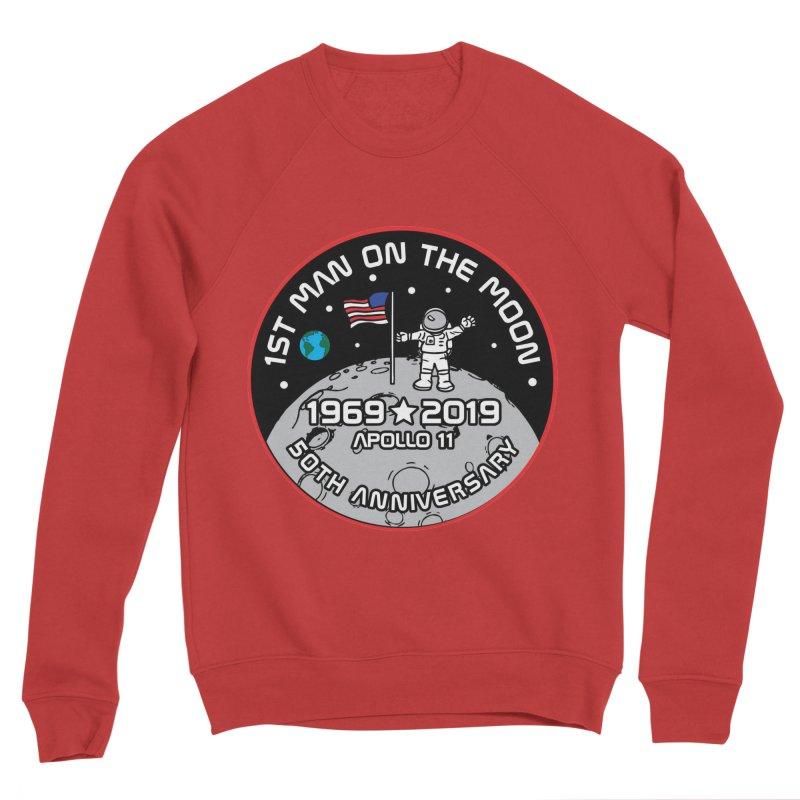 50th Anniversary of First Man Landing on the Moon Men's Sponge Fleece Sweatshirt by Moon Joggers's Artist Shop